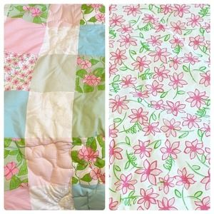 Lilly Pulitzer Patchwork TWIN Reversible Comforter